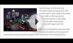 David Conway Solicitor l Commercial and Residential Real