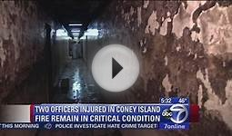 Officers still critical 3 days after Coney Island fire